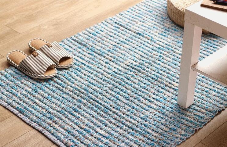 手工旧毛线编织地毯好不好