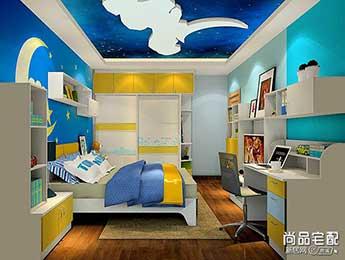 儿童卧室窗帘效果图欣赏