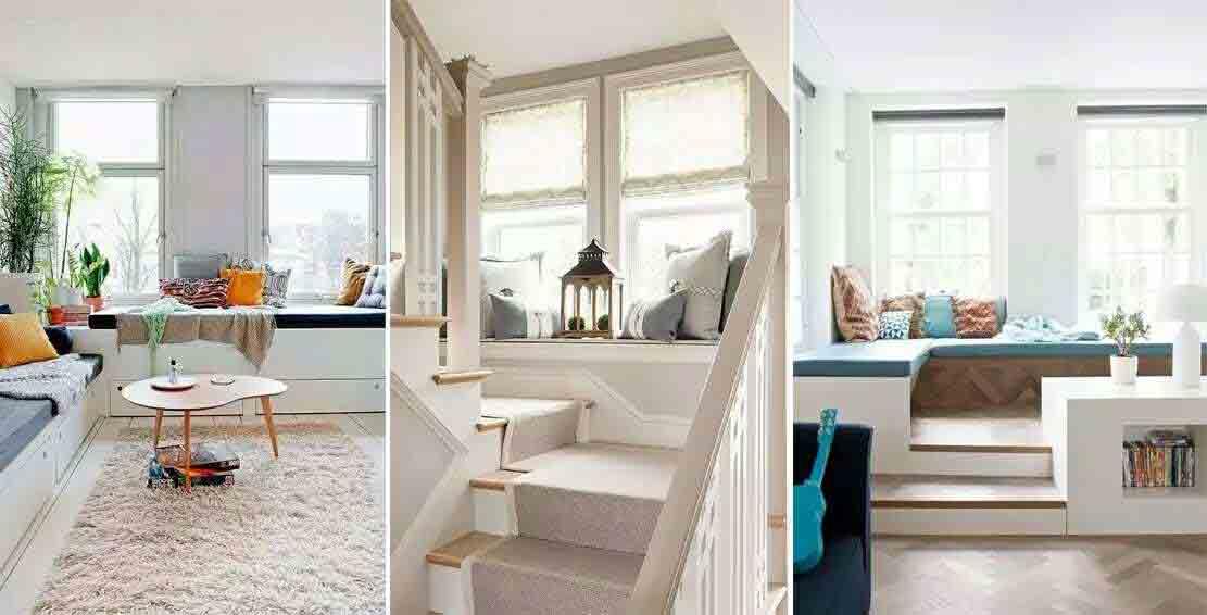 飘窗窗帘与飘窗功能相统一,融合之中更显至臻完美