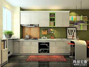 欧式开放式厨房吧台效果图欣赏