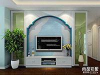 客厅电视背景墙壁纸怎么样?