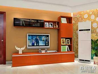 客厅红色电视柜效果图欣赏