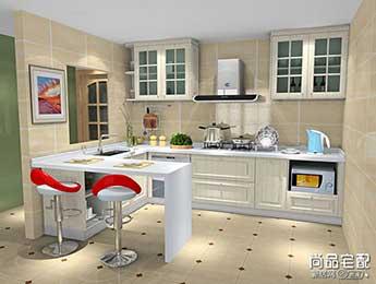 u型小厨房设计,巧构思