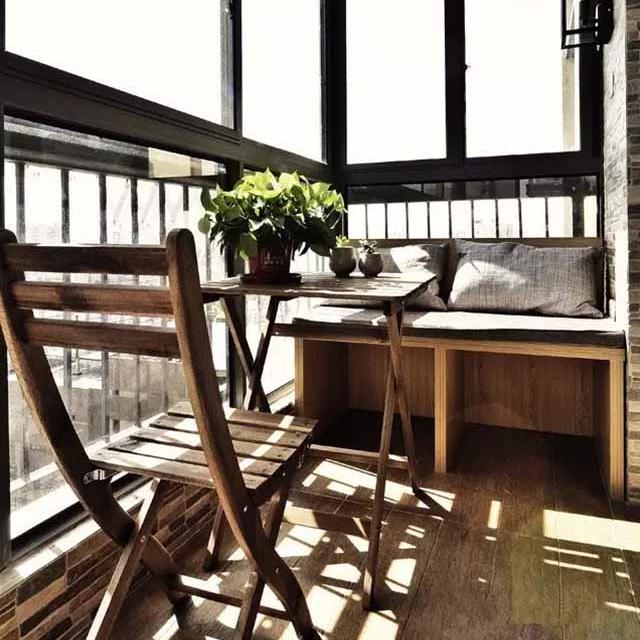 90�O北欧清新小家,这样的阳台把我的心都暖化了