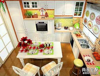多彩风格家庭小厨房设计