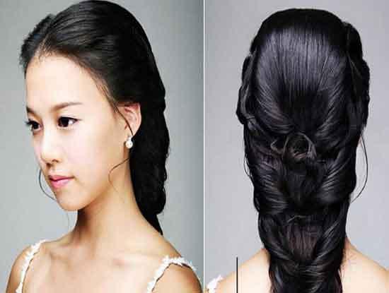 韩式新娘发型步骤