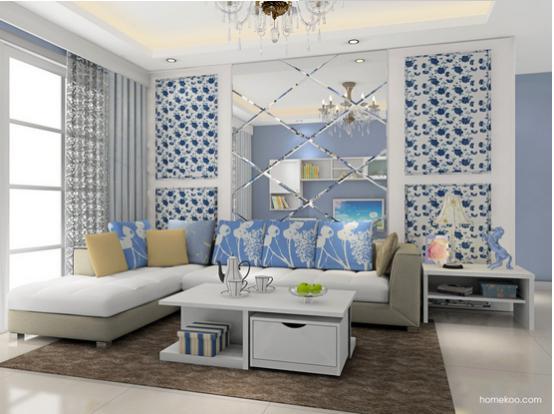 现代时尚沙发背景墙效果图大全