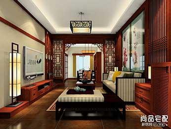 新中式客厅吊灯装修搭配效果图