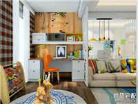 客厅兼书房设计效果图