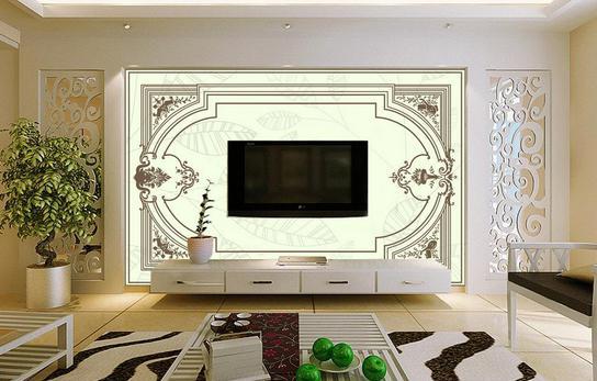 欧式电视背景墙的效果图
