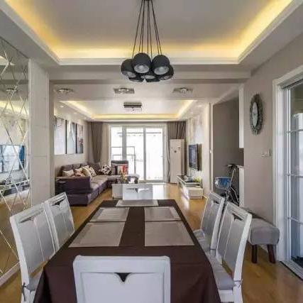 130平三房两厅新房的简约现代装修