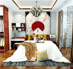 新中式典雅红木床屏