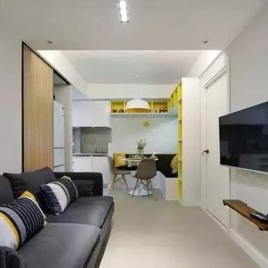 48平两室两厅简约小户型装修设计