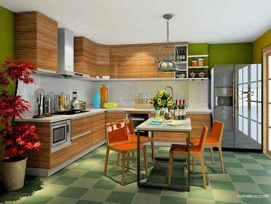 欧式整体厨房效果图,给你一个高品质家居生活