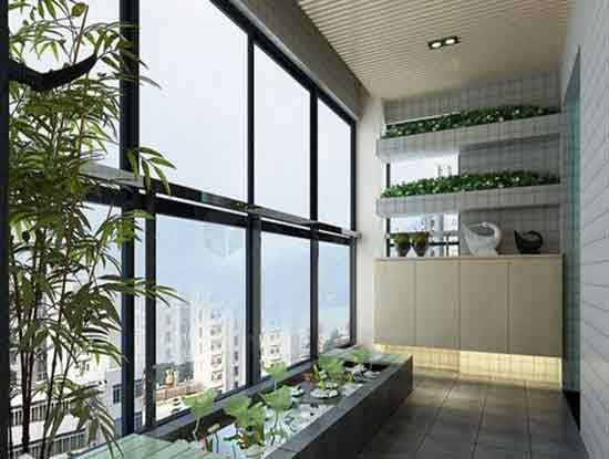 现代风格阳台效果图,打造一个休闲而美好的阳台