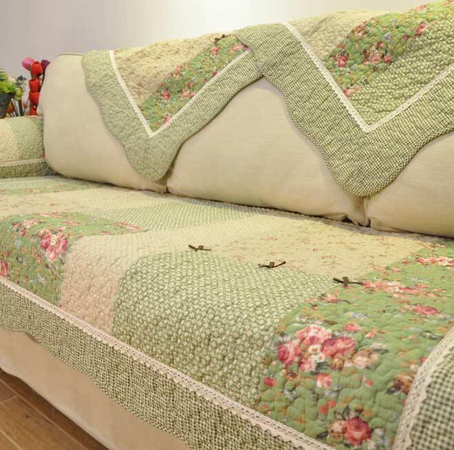 欧式布艺沙发垫图片