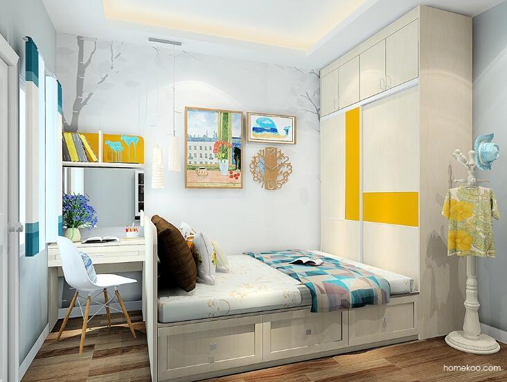 小户型卧室衣柜怎么设计,尚品宅配一口价衣柜来帮你