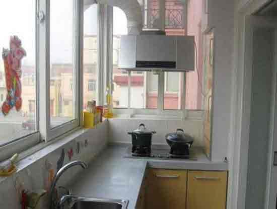 阳台厨房装修效果图小户型案例