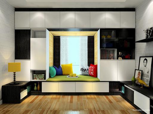 主卧室大飘窗装修效果图,美出新高度