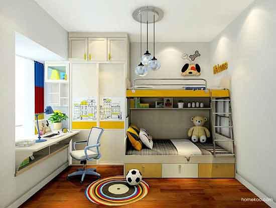 儿童房设计效果图男孩,总有一款你家孩子会喜欢
