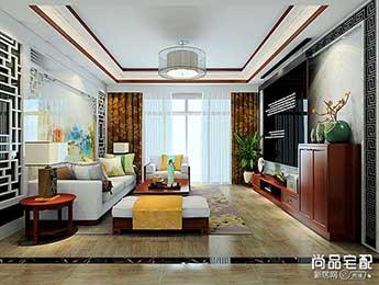 中式沙发背景墙图片,美观而优雅