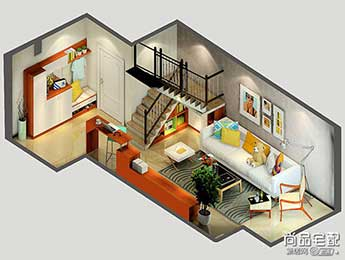 客厅楼梯装修效果图设计
