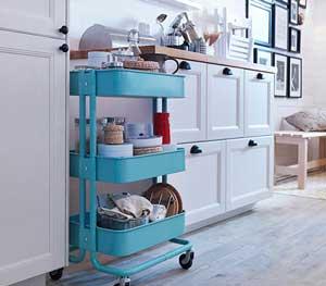 厨房置物架落地款怎么选?