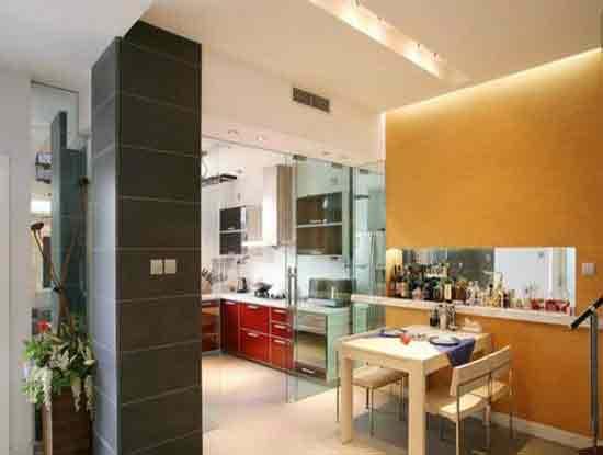 开放式厨房隔断推拉门图片,营造出好的居家环境