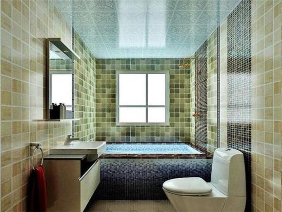 嵌入式浴缸装修效果图