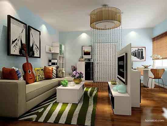 简约客厅装修效果图案例,家的氛围变得很不一样