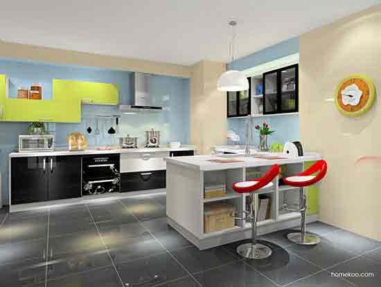 开放式厨房吧台图片,让人心情愉悦