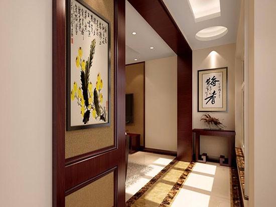 装修设计客厅过道门
