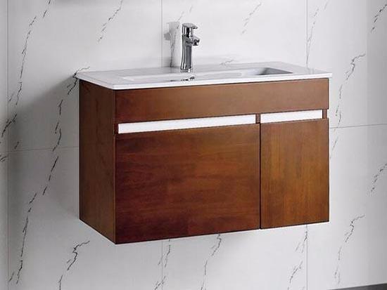 橡木实木浴室柜图片