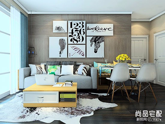 欧式客厅手绘