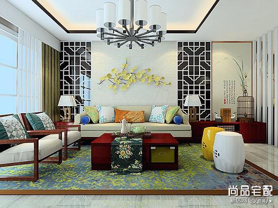 布艺沙发搭配中式茶几