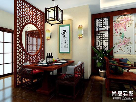 新中式餐桌餐边柜套装价格