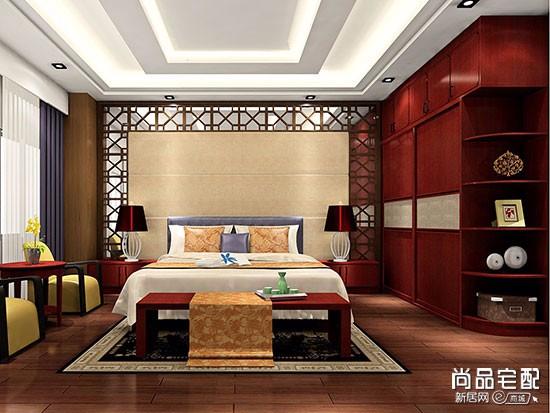 带横梁的卧室吊顶设计