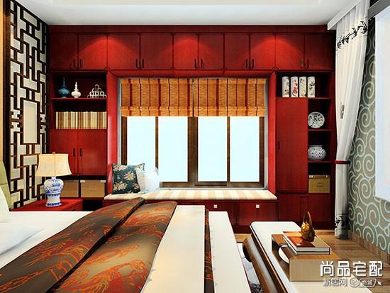 卧室窗帘满墙吗
