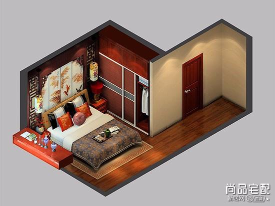 窄长卧室布置