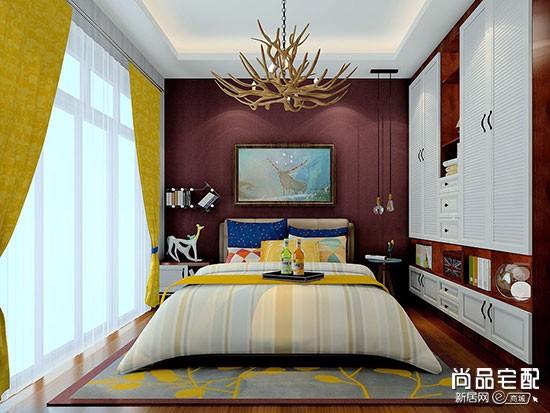 蓝色房间配什么色窗帘