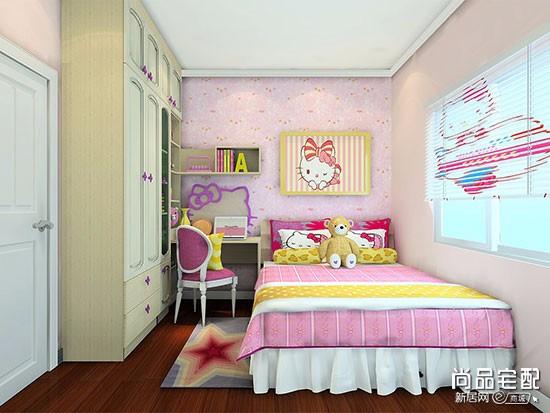 紫色卧室的窗帘