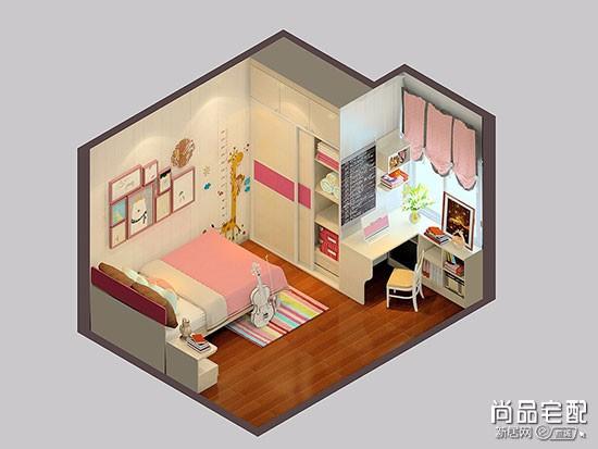 儿童房间布置图片粉色