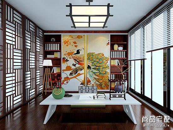 中式书房的布置效果图
