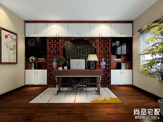 中式小书房图片