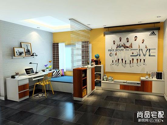 客厅兼书房装修图片