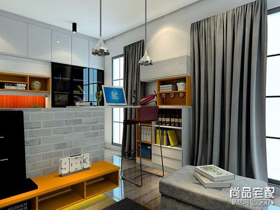 客厅里的开放式书房