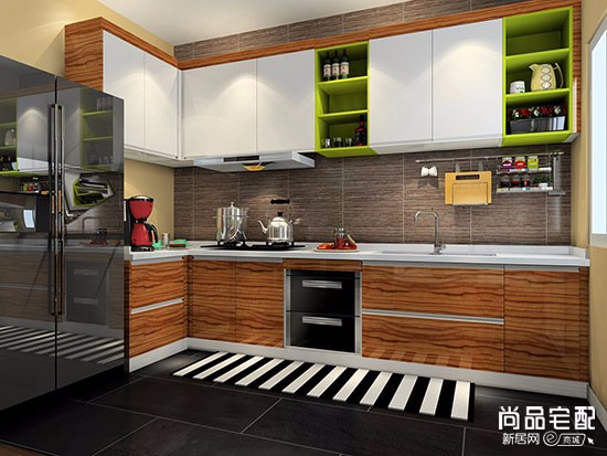 开放式厨房隐形门图片