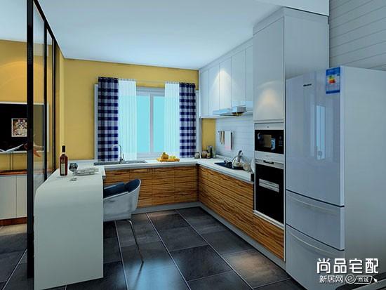 走道式厨房装修效果图