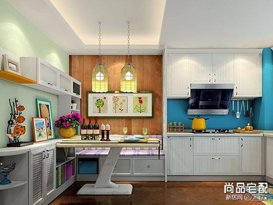 开放式厨房餐厅一体装修风格