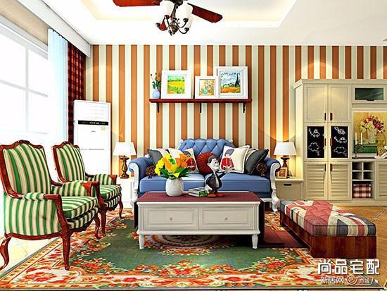 客厅背景墙手绘